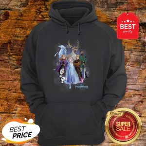 Nice Disney Frozen 2 Group Shot Walking Into Forest Hoodie
