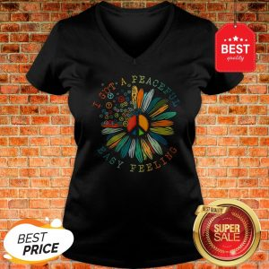 Colorful I Got A Peaceful Easy Feeling Hippie V-neck
