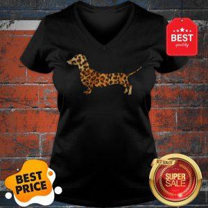 Cute Dachshund Leopard V-neck