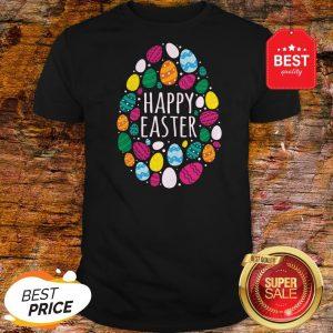 Cute Happy Easter Day Colorful Eggs Shirt