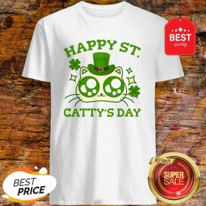 Happy St. Catty's Day St Patricks Funny Cat Clover Shirt