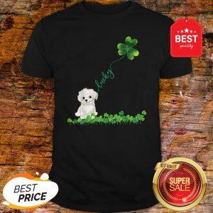 Lucky Maltese Dog Shamrock St Patrick Day Shirt
