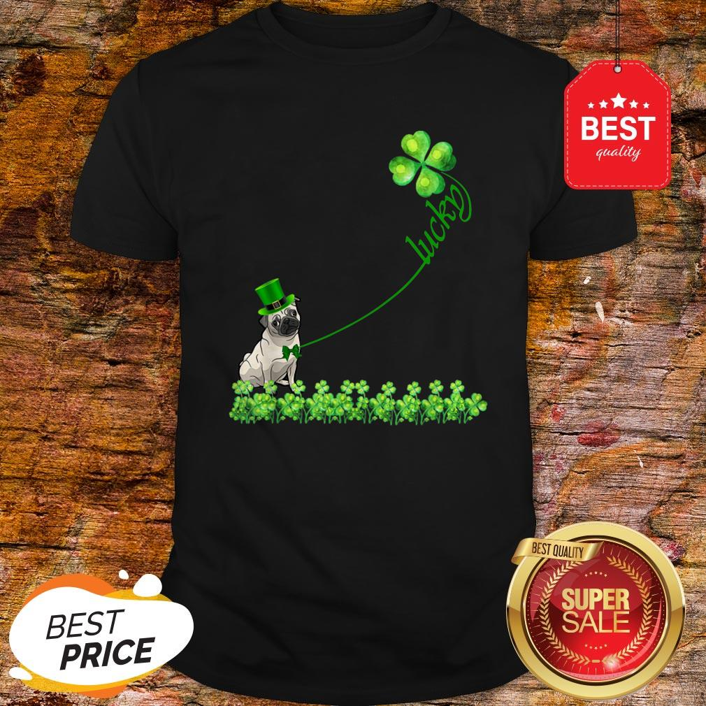 Lucky Saint Puggle Dog Shamrock St Patrick Day Shirt