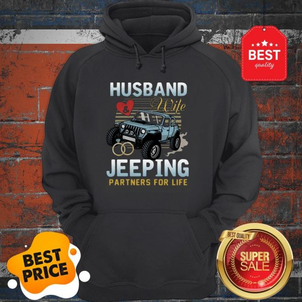 Nice Husband Wife Jeeping Partners For Life Hoodie