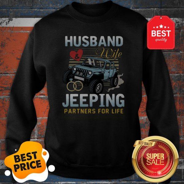 Nice Husband Wife Jeeping Partners For Life Sweatshirt