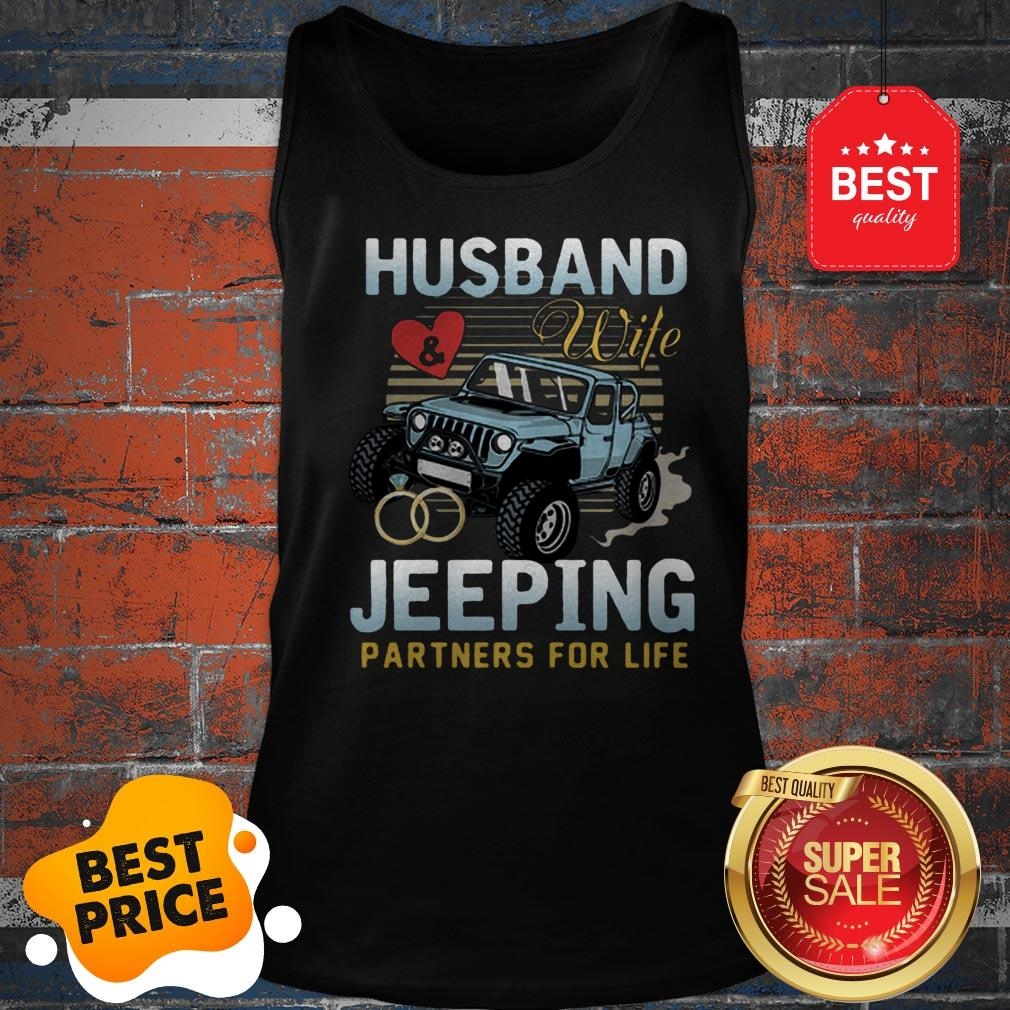 Nice Husband Wife Jeeping Partners For Life Tank Top