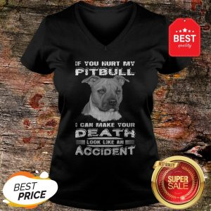 Nice If You Hurt My Pitbull I Can Make Your Death Look Like An Accident V-neck