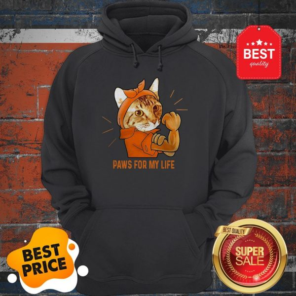 Nice Strong Cat Paws For My Life Hoodie