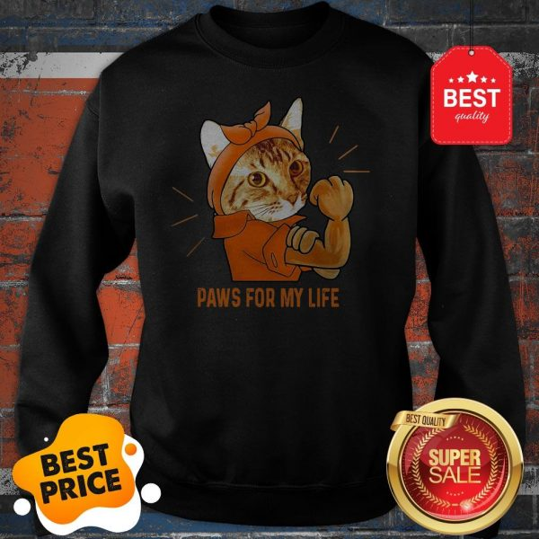 Nice Strong Cat Paws For My Life Sweatshirt