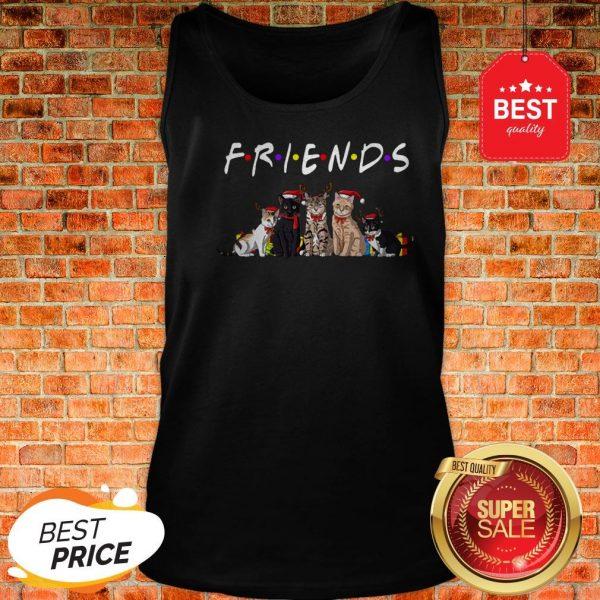 Official Christmas Best Friends Cat Tank Top