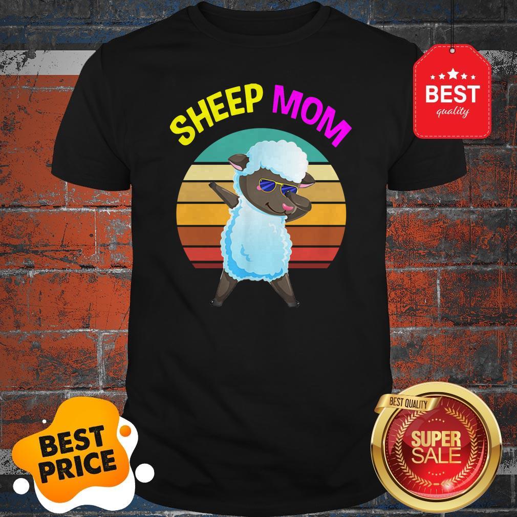Official Cute Dabbing Sheep Mom Lovers Gifts Mama Mothers Shirt