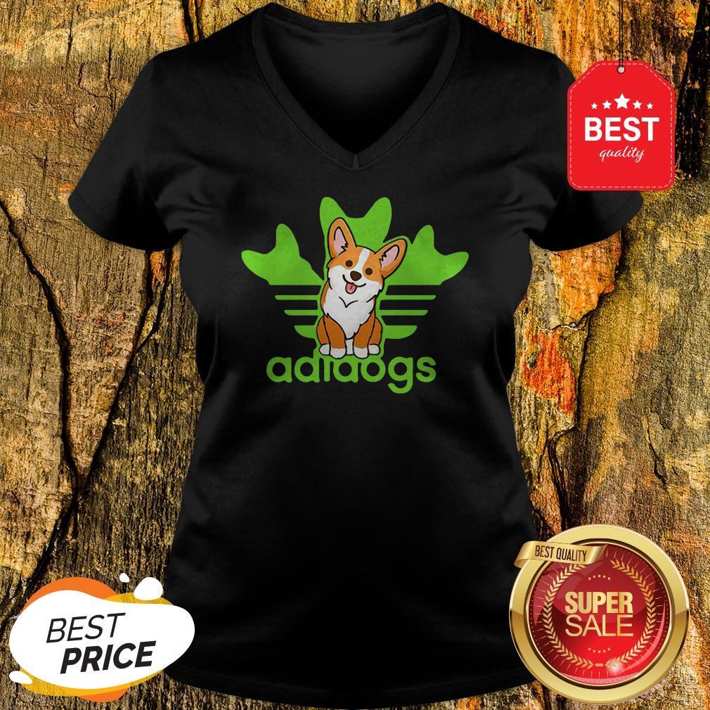Pretty Adidogs Corgi Dog V-neck