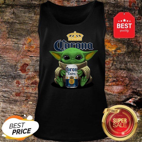 Pretty Baby Yoda Hug Corona Extra Beer Tank Top