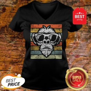 Pretty Gun Monkeys Vintage Style V-neck