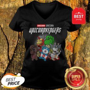 Unicorn Unicornvengers Avengers Endgame Marvel MCU V-neck