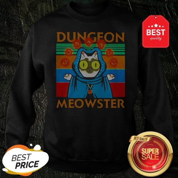 Vintage Cat Dungeon Meowster Sweatshirt