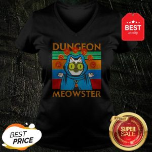 Vintage Cat Dungeon Meowster V-neck