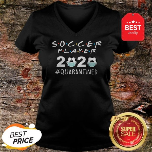 Awesome Soccer Player 2020 Quarantined Coronavirus V-neck