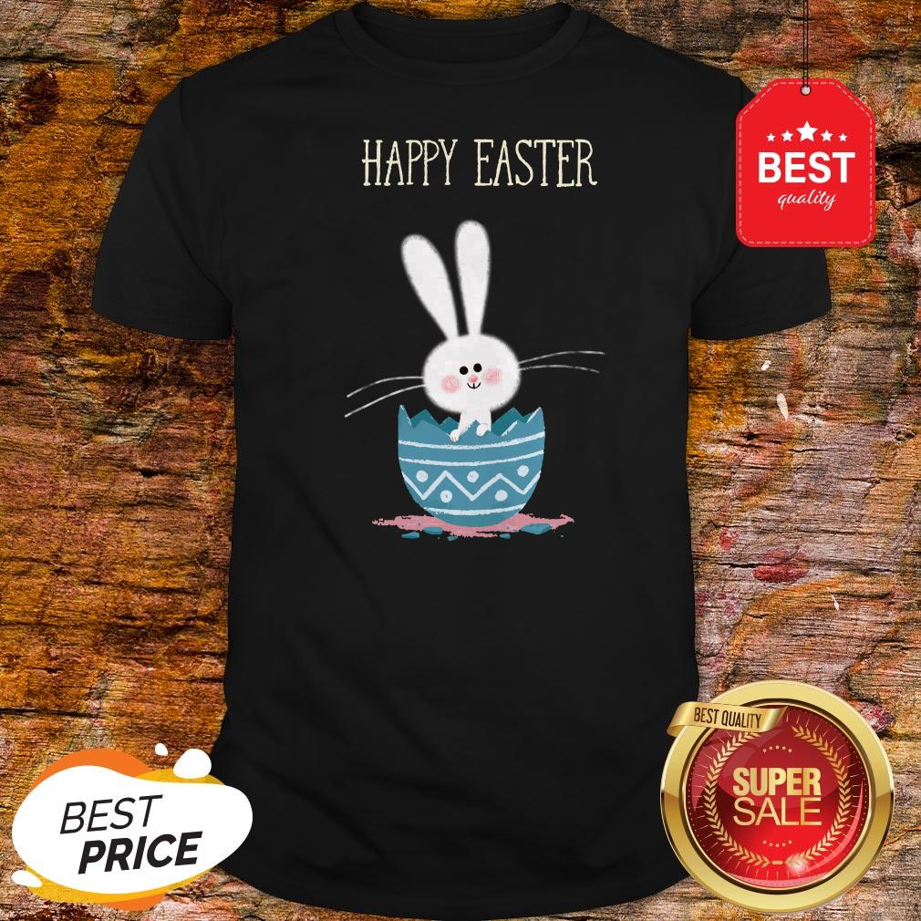 Cute Bunny Rabbit In Egg Happy Easter Day Shirt