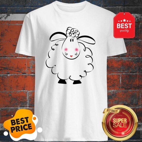Cute Female White Sheep Couple Shirt