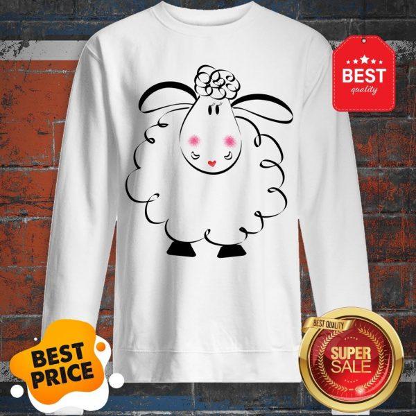 Cute Female White Sheep Couple Sweatshirt