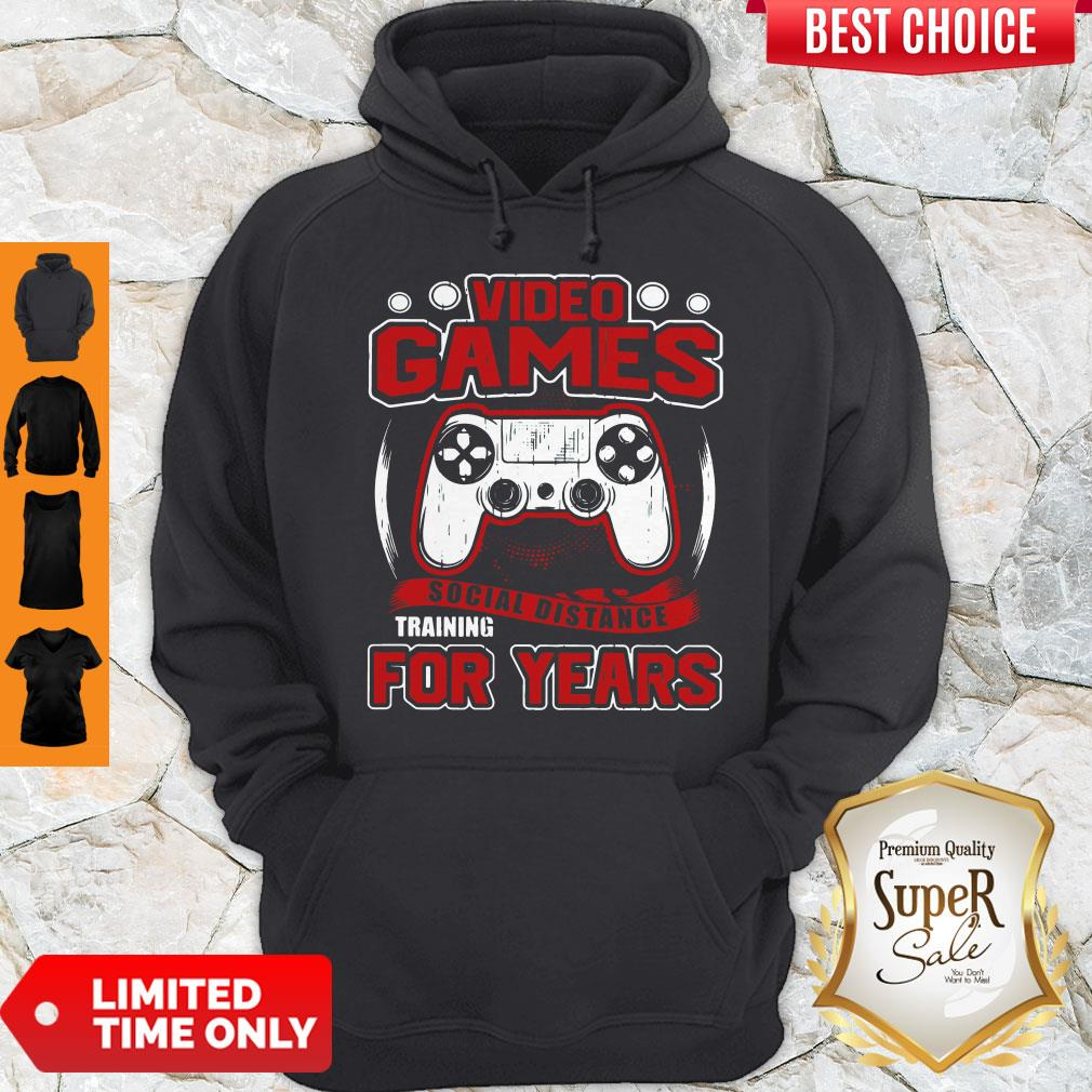 Premium Video Game Social Distance Training For Years Hoodie