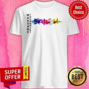 Awesome Massage Therapist Colorful Heartbeat Shirt