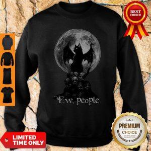 Official Bat And Black Cat Moon Skull Ew People Sweatshirt