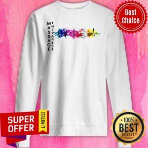 Awesome Massage Therapist Colorful Heartbeat Sweatshirt