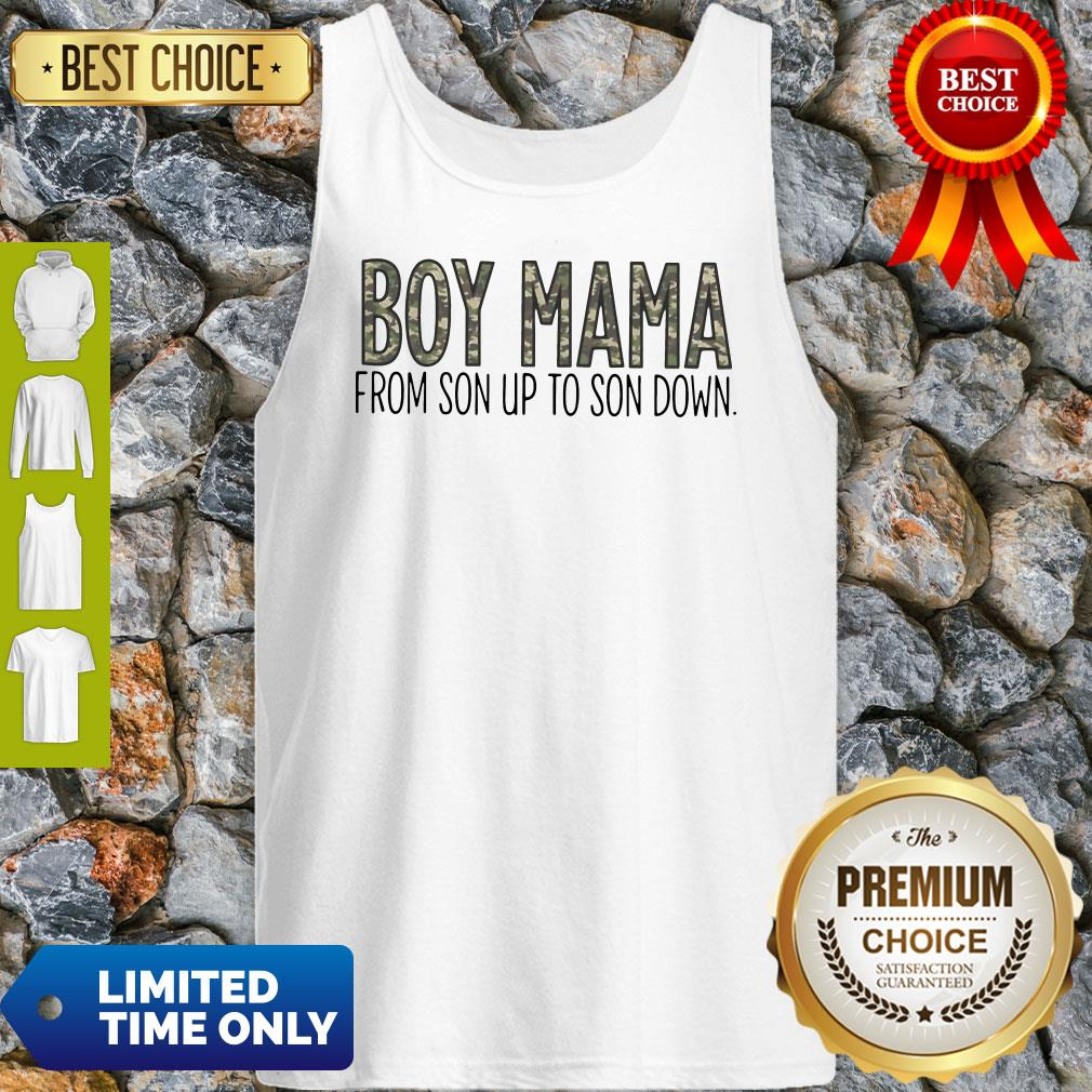 Official Boy Mama From Son Up To Son Down Tank Top