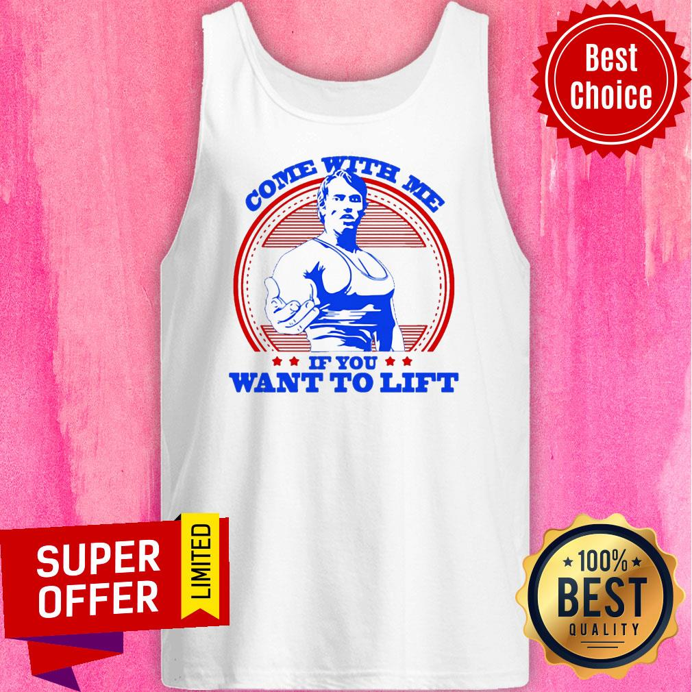 Premium Robot Rave Arnie Come With Me If You Want To Lift Tank Top