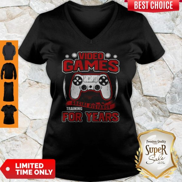 Premium Video Game Social Distance Training For Years V-neck