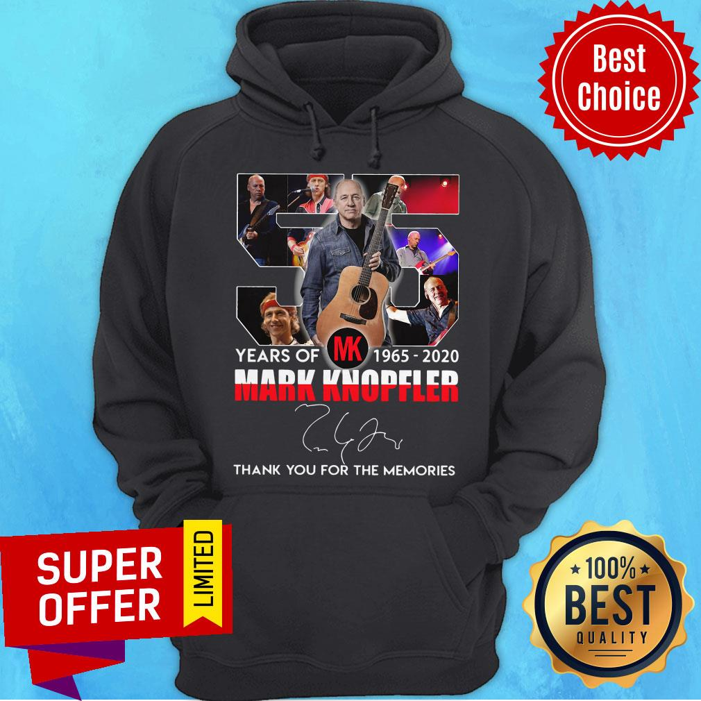 55 Mark Knopfler Years Of MK 1965 2020 Thank You For The Memories Hoodie