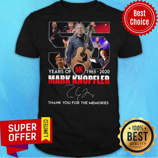 55 Mark Knopfler Years Of MK 1965 2020 Thank You For The Memories Shirt