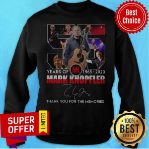 55 Mark Knopfler Years Of MK 1965 2020 Thank You For The Memories Sweatshirt