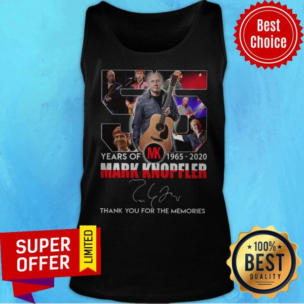 55 Mark Knopfler Years Of MK 1965 2020 Thank You For The Memories Tank Top
