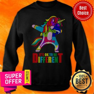 Awesome Autism Unicorn It's Ok To Be Different Sweatshirt