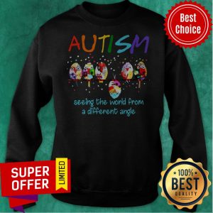 Awesome Bird Autism Seeing The World From A Different Angle Sweatshirt