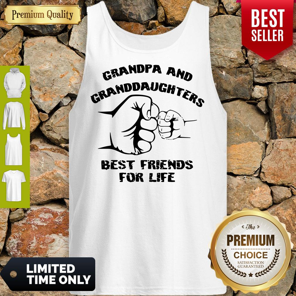 Awesome Grandpa And Granddaughters Best Friends For Life Tank Top