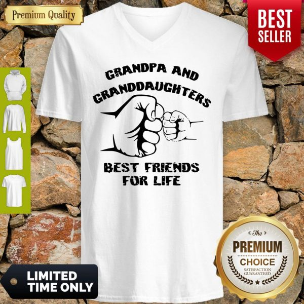 Awesome Grandpa And Granddaughters Best Friends For Life V-neck
