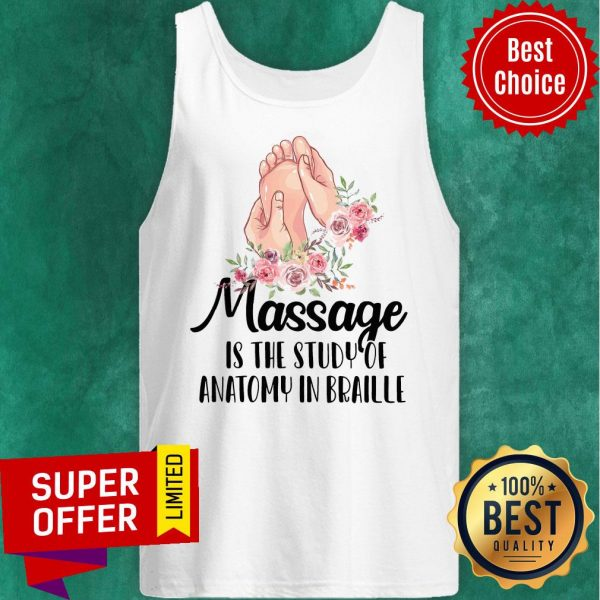 Awesome Massage Is The Study Of Anatomy In Braille Vintage Tank Top