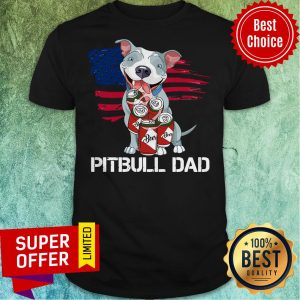 Awesome Pitbull Dad Beer Shirt