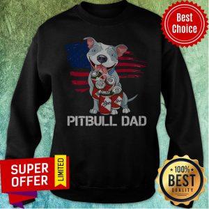 Awesome Pitbull Dad Beer Sweatshirt