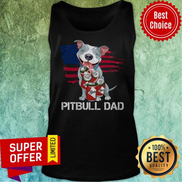 Awesome Pitbull Dad Beer Tank Top