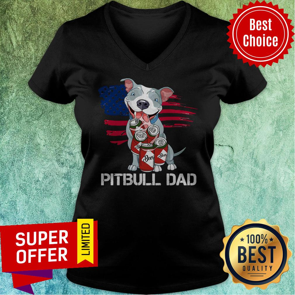 Awesome Pitbull Dad Beer V-neck