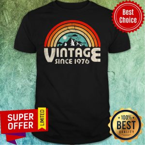 Funny 43rd Birthday Vintage 1976 Epic Rainbow Vintage Shirt