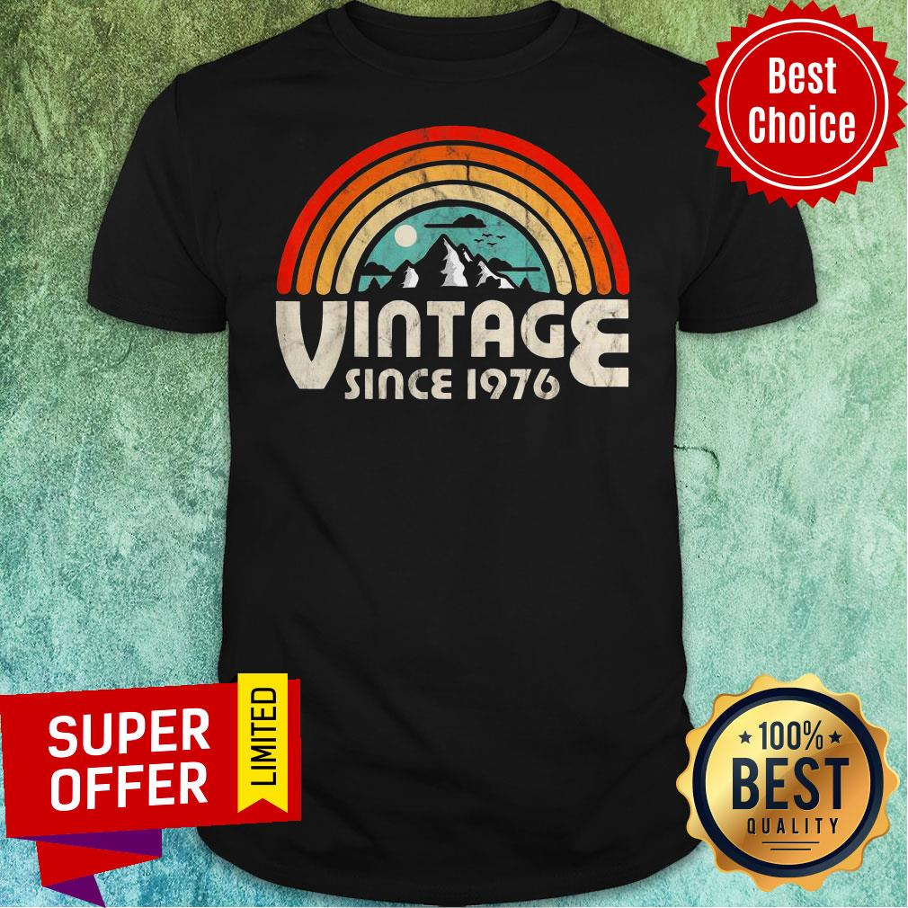 Funny 43rd Birthday Vintage 1976 Epic Rainbow Vintage Shirt