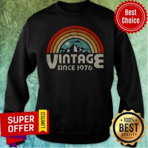 Funny 43rd Birthday Vintage 1976 Epic Rainbow Vintage Sweatshirt