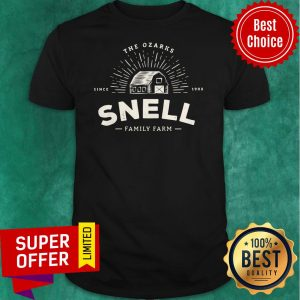 Funny Snell Family Farm Logo From Ozark Baseball Shirt