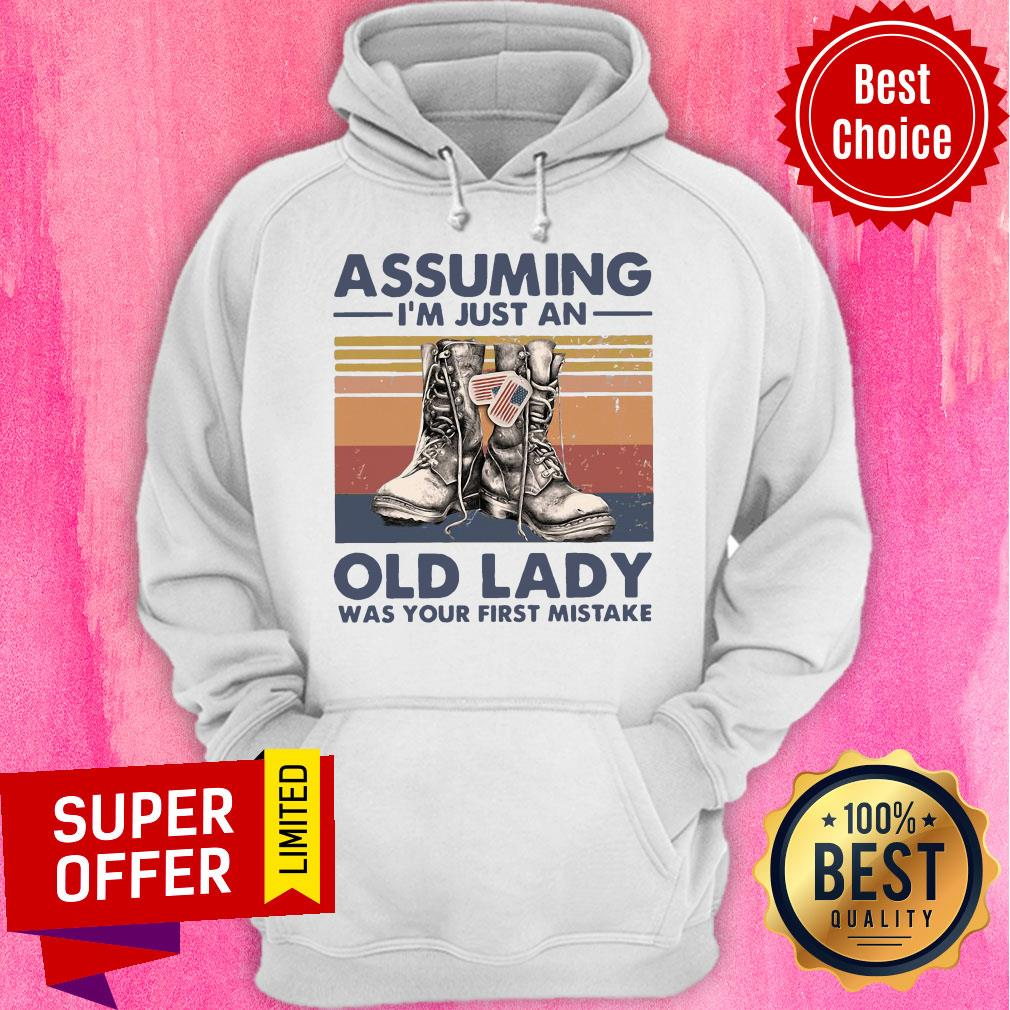 Assuming I'm Just An Old Lady Was Your First Mistake Baseball Hoodie